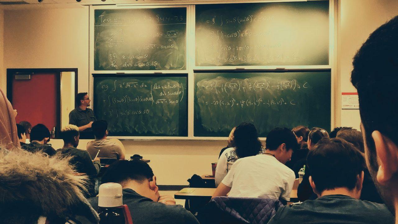 授業中の教室