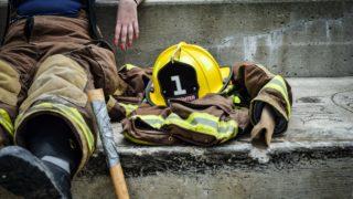 消防士のヘルメット