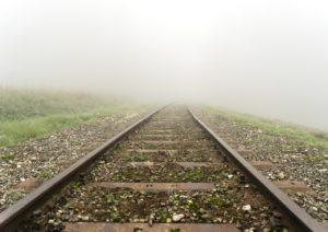 先が見えない線路